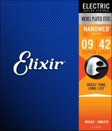 Струны для электрогитары Elixir NANOWEB Superlight Nickel Plated