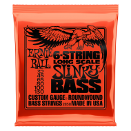 Струны для бас-гитары Ernie Ball 2838 Bass 6 Long Scale Slinky